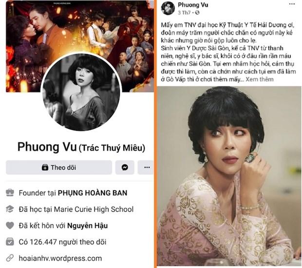 Đề nghị xử lý Trác Thúy Miêu do phát ngôn về sinh viên y tế Hải Dương    Pháp luật   Vietnam+ (VietnamPlus)